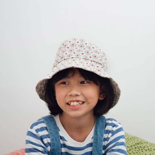 遮陽漁夫帽-兒童/老磁磚2號/雲塵灰色 兒童遮陽帽, 兒童帽, 漁夫帽