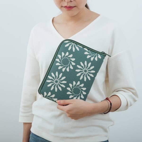 iPad Mini收納包/烏秋圈圈/水鴨綠色 平板保護殼, 平板保護袋, iPad收納袋