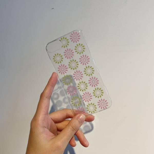 【現貨】印花樂X犀牛盾MOD背板-iPhone 6/6s/ 7Plus/ 8Plus/烏秋圈圈/背蓋透明紫綠