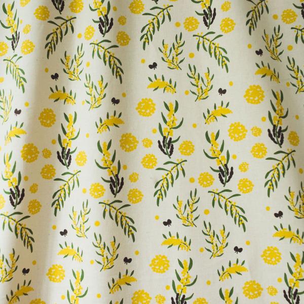 寬幅平織印花棉布/米力系列/黃相思 布料, 棉布, 手作材料