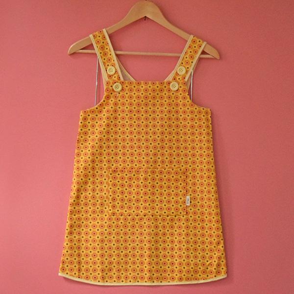 兒童圍裙-110/老磁磚2號/陽光黃色 圍裙