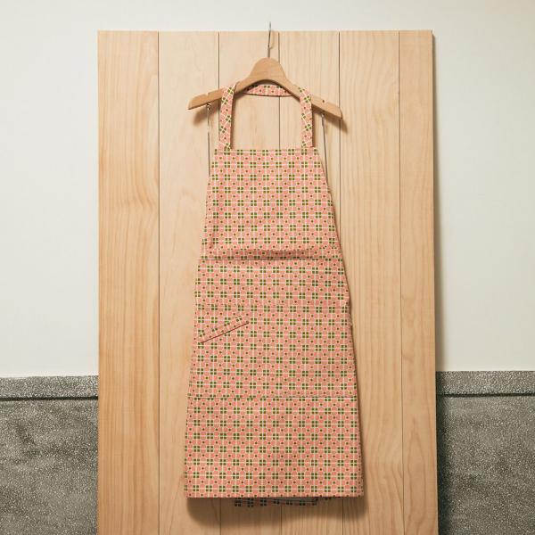 全身/半身兩用圍裙/老磁磚4號/蜜瓜膚粉 圍裙