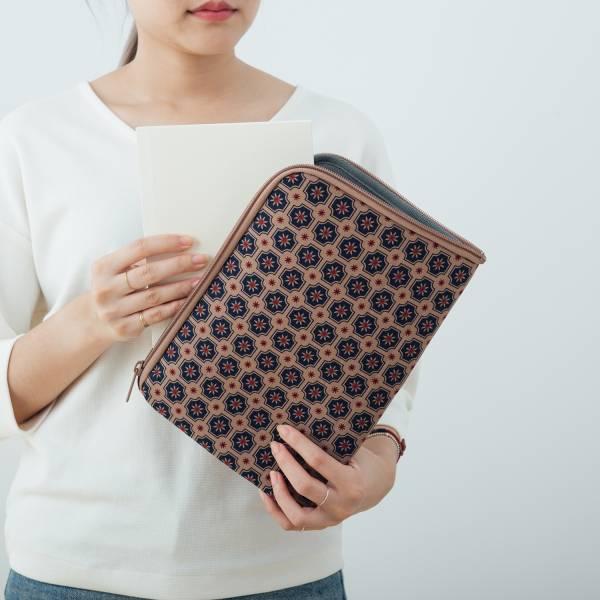 """10.5"""" iPad收納包/老磁磚2號/古董藍褐 平板保護殼, 平板保護袋, iPad收納袋"""
