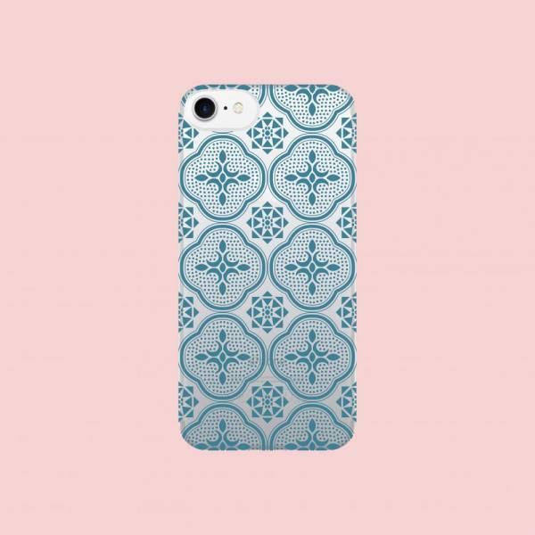 【現貨】印花樂X犀牛盾NX背板-iPhone X/玻璃海棠/背蓋透明藍 手機殼, 手機套, 犀牛盾, iPhone 手機殼