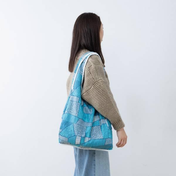 中型側背袋/限定花色/印花樂 x Dear b&b /深藍 Dearbnb,中型側背袋,購物袋,環保袋