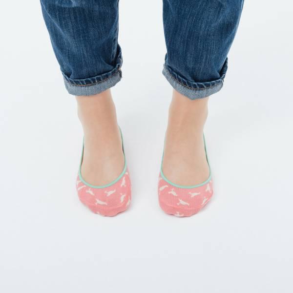 緹花淺口隱形襪/台灣八哥4號/莓果粉紅 襪子, 隱形襪, 緹花襪