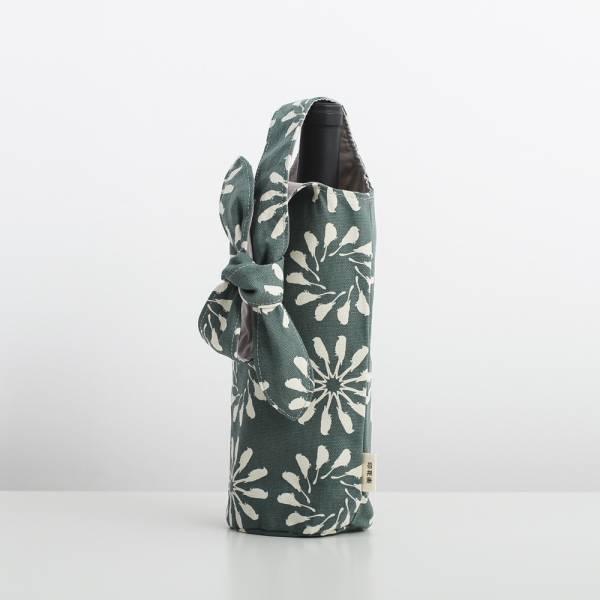大大兔耳袋/烏秋圈圈/水鴨綠色 飲料提袋, 環保飲料提袋, 隨行杯提袋, 兔耳袋