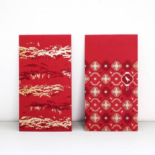 紅包袋/印花經典圖案/燙金/六入組