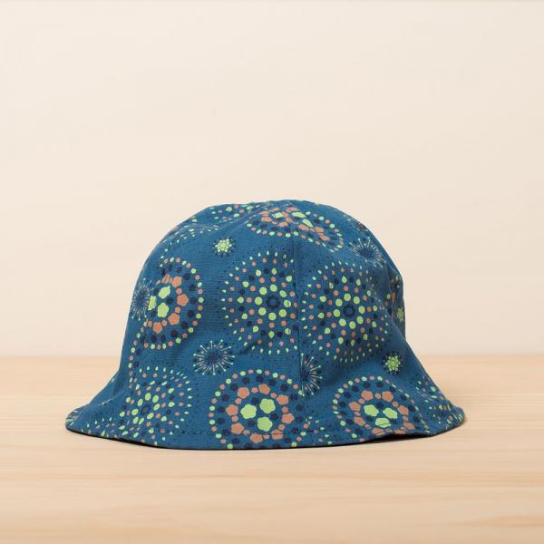 花瓣帽/煙火/暮色藍綠 遮陽帽, 花瓣帽