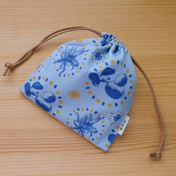 口罩束口袋/香草植物藍灰