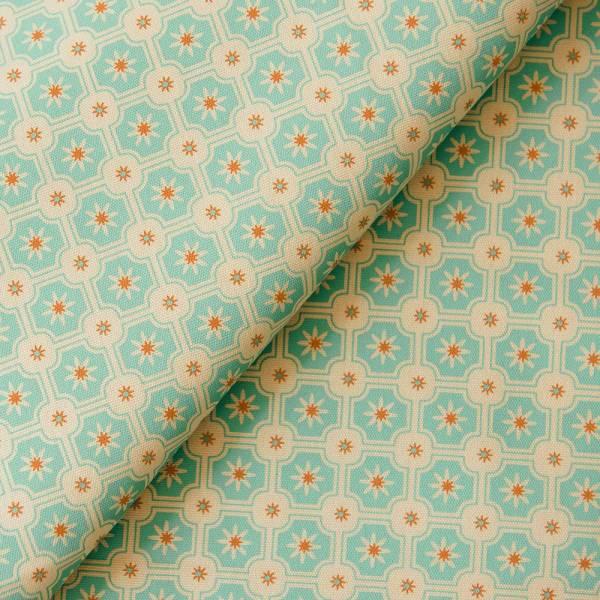 手印棉帆布-250g/y/老磁磚2號/琉璃藍色 布料, 棉帆布, 手作材料