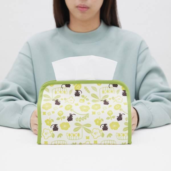 小屋面紙套/藝術家聯名/印花樂 x 米力/黃花與無辜貓 面紙套,面紙盒