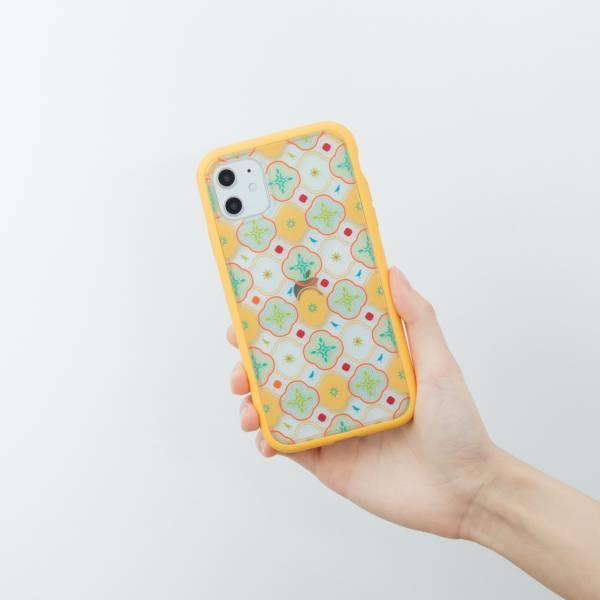 印花樂X犀牛盾NX邊框背蓋兩用殼/背蓋海棠八哥/黃綠 手機殼, 手機套, 犀牛盾, iPhone 手機殼