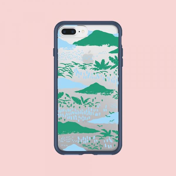 犀牛盾MOD NX手機殼/雜花/背蓋透明縱谷藍 手機殼, 手機套, 犀牛盾, iPhone 手機殼
