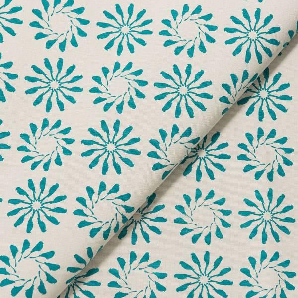 手印棉帆布-寬幅500g/y/烏秋圈圈/岩石藍灰 布料, 棉帆布