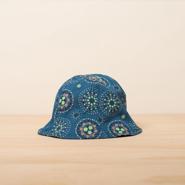 花瓣帽-兒童/煙火/暮色藍綠 兒童遮陽帽, 兒童帽, 花瓣帽