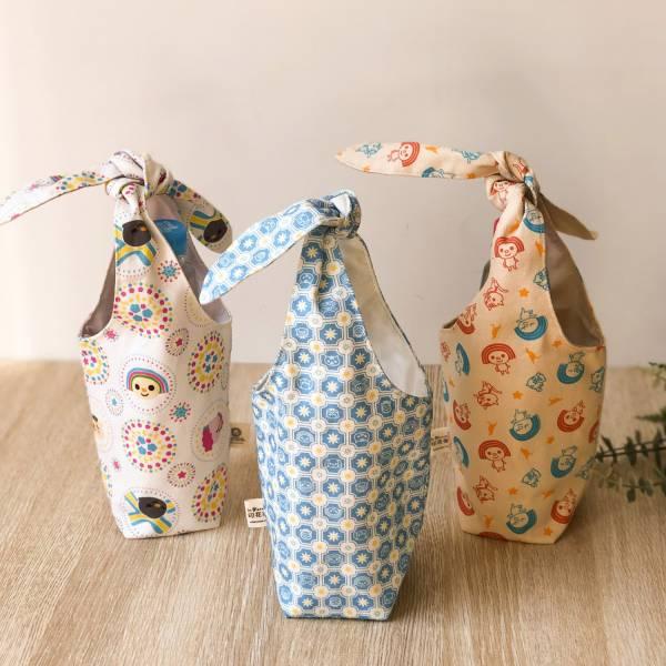 隨行杯兔耳袋/限定花色/印花樂xOPEN! (三種花色) 飲料提袋,環保飲料提袋, 隨行杯提袋, 兔耳袋
