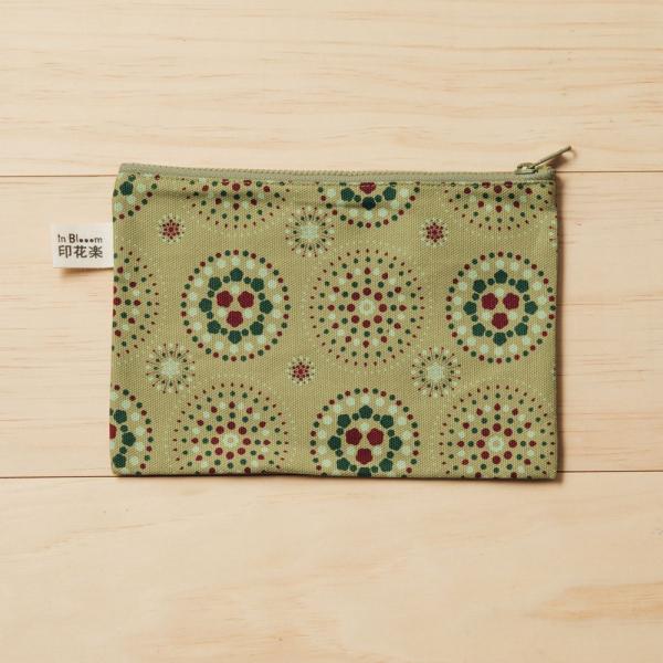 拉鏈文具袋-L14/煙火/橄欖灰綠 筆袋, 收納包, 文具袋, 化妝包, 盥洗包