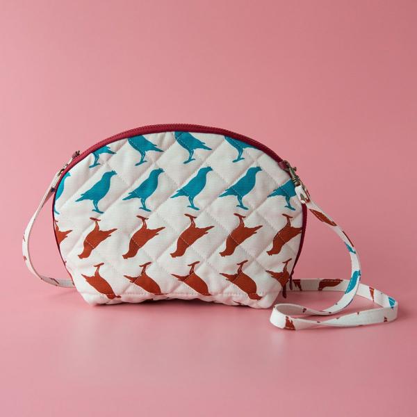 菠蘿側背小包/台灣八哥5號/古宅紅粉 隨身包, 側背包