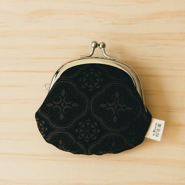 3.3吋口金零錢包/玻璃海棠/紳士黑色 口金包, 零錢包