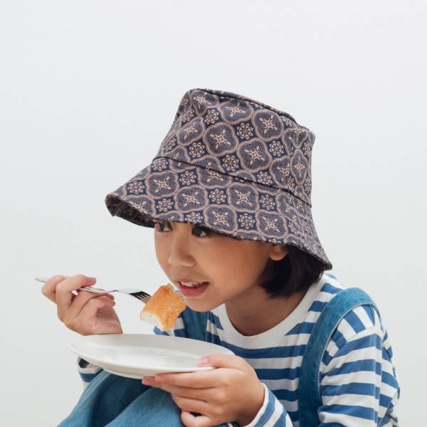 遮陽漁夫帽-兒童/玻璃海棠/午夜藍褐 兒童遮陽帽, 兒童帽, 漁夫帽