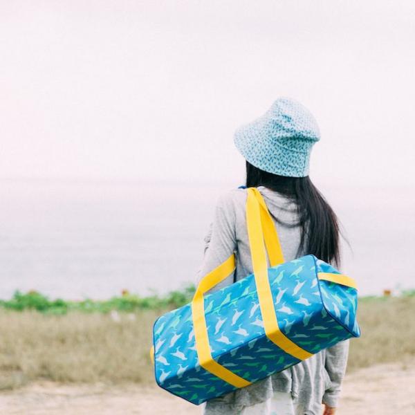 防水旅行裝備袋/台灣八哥5號/礦泉藍 野餐, 戶外, 防水, 踏青, 露營, 音樂祭, 旅行