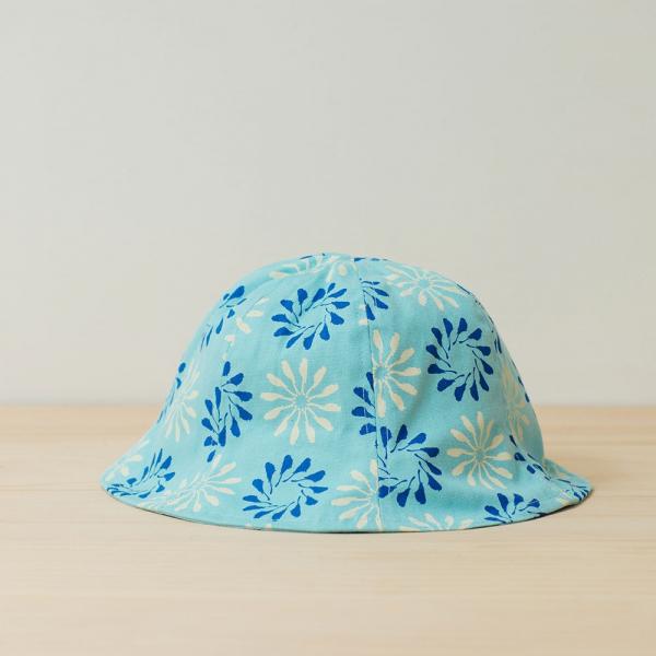 花瓣帽-兒童/烏秋圈圈/晴天藍 兒童遮陽帽, 兒童帽, 花瓣帽