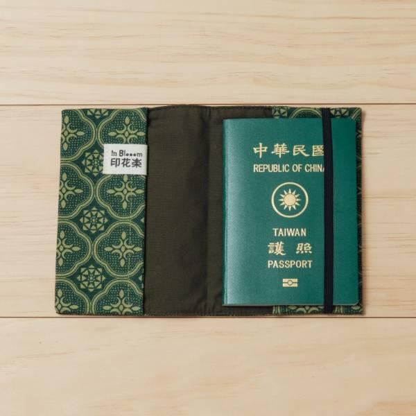 護照書衣/玻璃海棠/古董草綠 護照套, 書衣