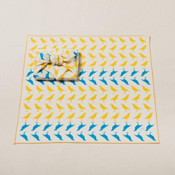 包布巾/台灣八哥5號/活力黃藍 布巾, 包巾, 手帕