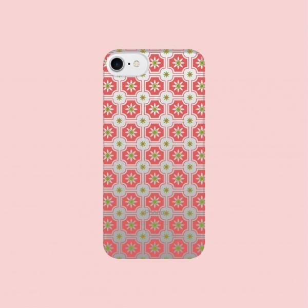 【現貨】印花樂X犀牛盾NX背板-iPhone X系列/老磁磚2號/背蓋透明珊瑚紅 手機殼, 手機套, 犀牛盾, iPhone 手機殼