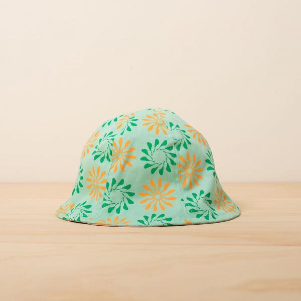 花瓣帽-兒童/烏秋圈圈/糖果綠色 兒童遮陽帽, 兒童帽, 花瓣帽