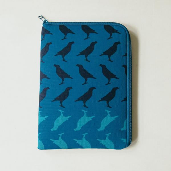 10.5吋 iPad收納包/台灣八哥5號/湖心藍色 平板保護殼, 平板保護袋, iPad收納袋