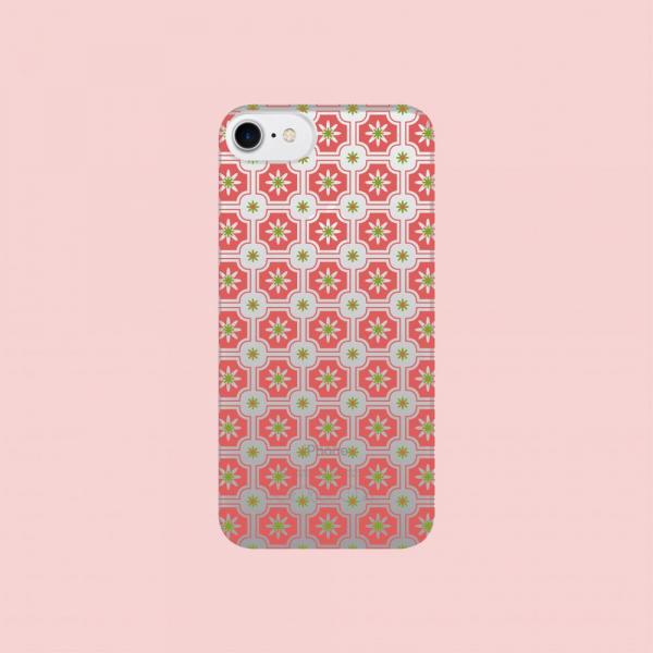 犀牛盾NX背板/老磁磚2號/背蓋透明珊瑚紅 手機殼, 手機套, 犀牛盾, iPhone 手機殼