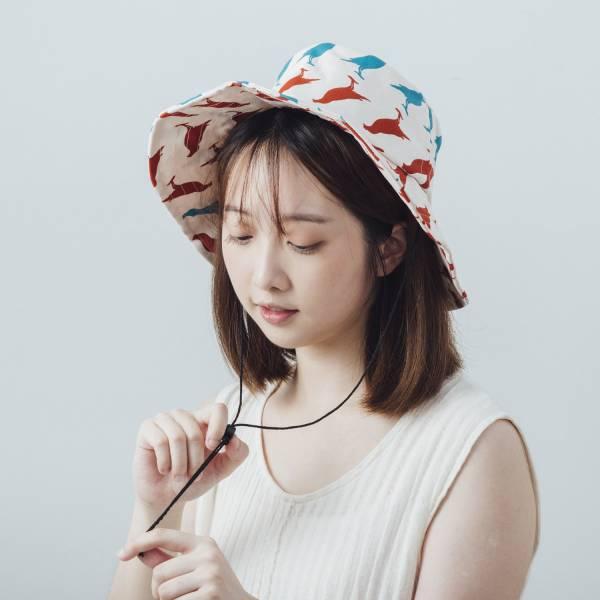 遮陽漁夫帽-可調式/台灣八哥5號/古宅紅粉 漁夫帽, 遮陽帽