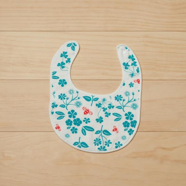 寶寶口水巾/野花草與蜜蜂/天空藍 口水巾, 寶寶禮物