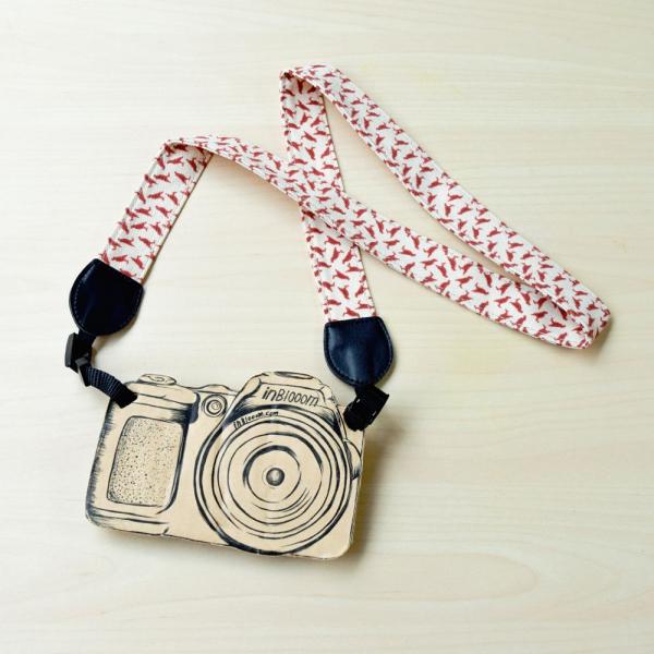 相機揹帶/台灣八哥4號/地質粉紅 相機背帶