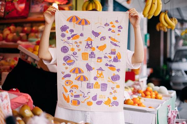 家事布/菜市場/元氣紫橘 布巾, 家事布