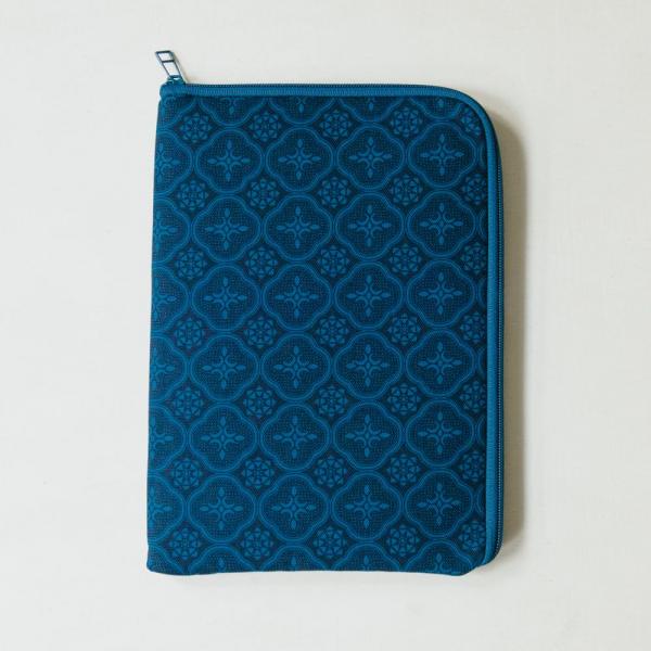 10.5吋 iPad收納包/玻璃海棠/宅邸深藍 平板保護殼, 平板保護袋, iPad收納袋