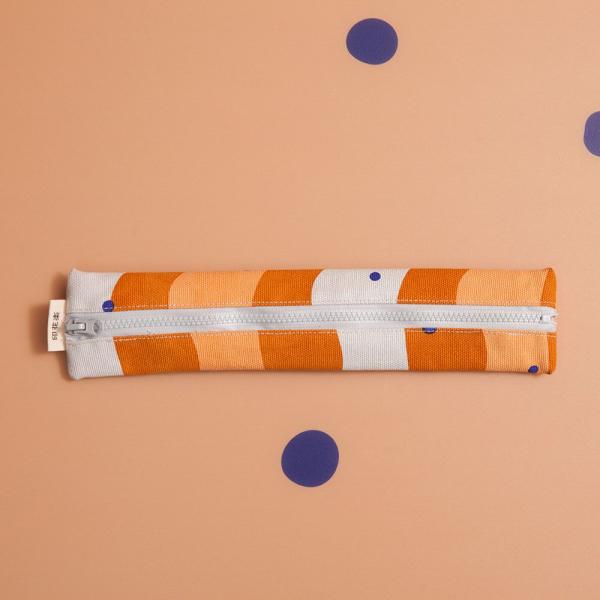拉鍊餐具袋(含餐具)/珍珠奶茶/焦糖茶色 餐具袋