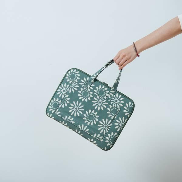 13吋筆電收納包-差旅款/烏秋圈圈/水鴨綠色 筆電包, 筆電袋