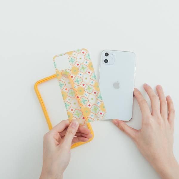 【預購】印花樂X犀牛盾NX背板-iPhone/背蓋海棠八哥/黃綠 手機殼, 手機套, 犀牛盾, iPhone 手機殼
