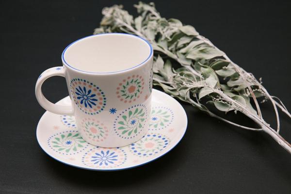 限定款馬克杯320ml/限定花色/十週年/柔和藍綠 馬克杯, 印花樂十週年