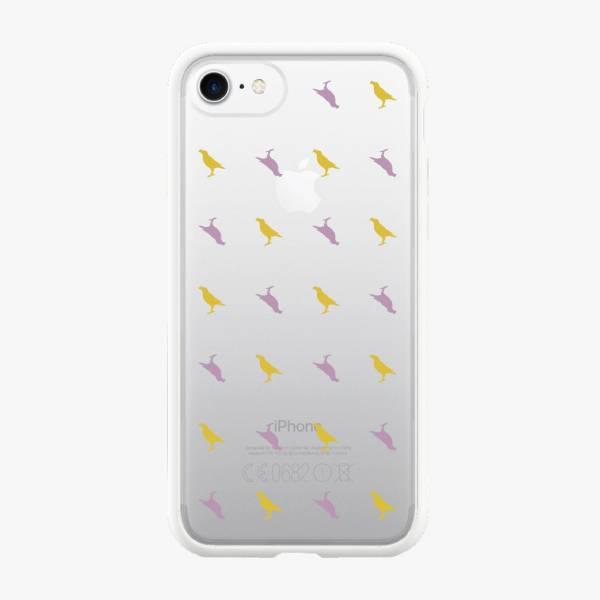 【現貨】印花樂X犀牛盾MOD邊框背蓋兩用殼-iPhone X/台灣八哥/背蓋透明紫黃 手機殼, 手機套, 犀牛盾, iPhone 手機殼