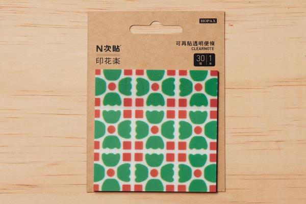 N次貼-透明便條本/老磁磚4號/多色 N次貼, 便條本