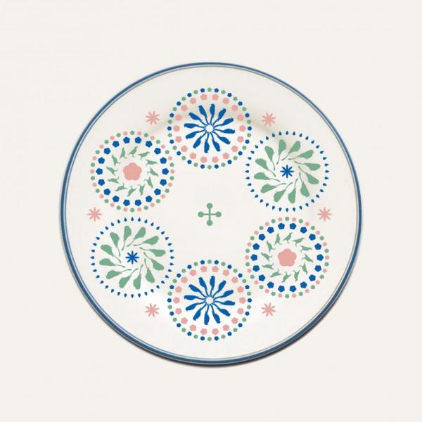 限定款圓盤/限定花色/十週年/柔和藍綠 印花樂十週年
