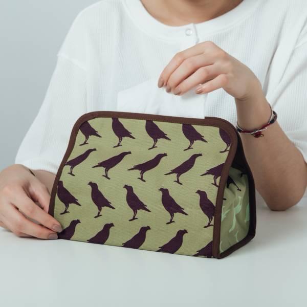 小屋面紙套/台灣八哥5號/油畫紫綠 面紙套,面紙盒