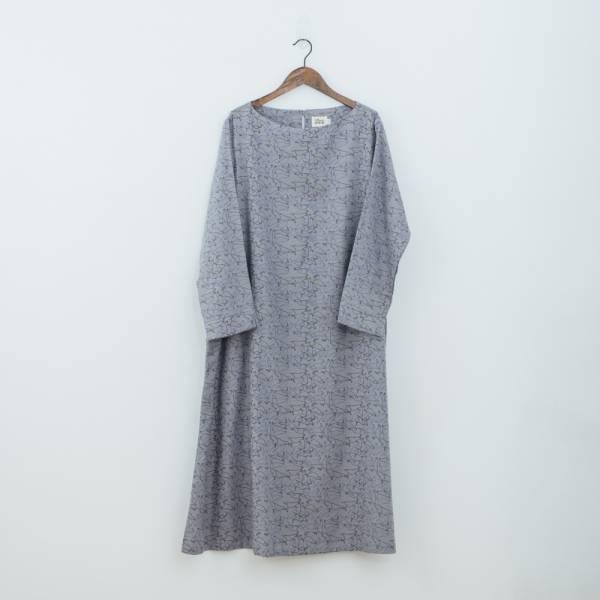 A字寬版罩衫/台灣八哥/灰藍黑 洋裝,罩衫,寬版,花襯衫,印花布料