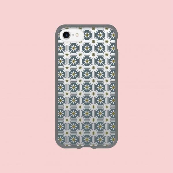 【現貨/含iPhone12】印花樂X犀牛盾NX邊框背蓋兩用殼/老磁磚2號/背蓋藍灰 手機殼, 手機套, 犀牛盾, iPhone 手機殼, iPhone 12