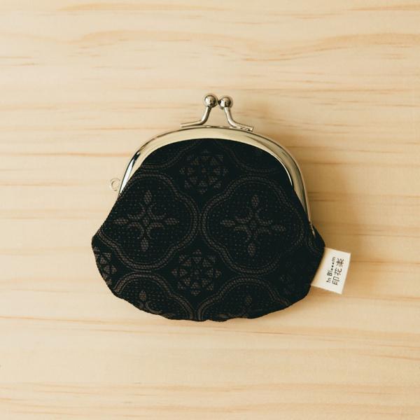 2.6吋口金零錢包/玻璃海棠/紳士黑色 口金包, 零錢包