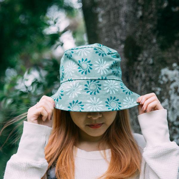 遮陽漁夫帽/烏秋圈圈/苔蘚綠 遮陽帽, 漁夫帽